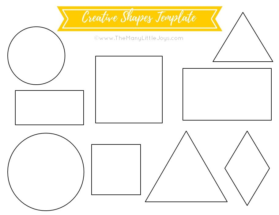 It is a picture of Impertinent Free Printable Shapes Templates