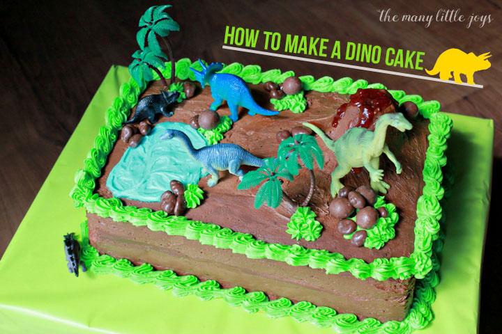 How To Make A Dinosaur Birthday Cake The Many Little Joys