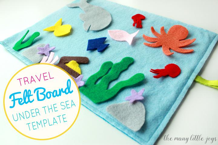 "Travel felt board: ""Under the Sea"" play set (free ..."