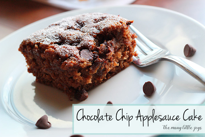 chocolate applesauce cake easy chocolate chip applesauce cake the many joys 2806