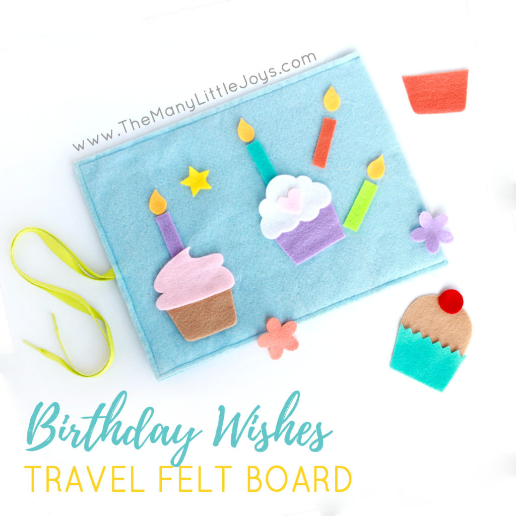"Travel Felt Board: ""Birthday Wishes"" Cupcake Play Set"
